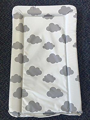 Deluxe Unisex Baby Waterproof Changing Mat with Raised Edges - Unique Grey #597