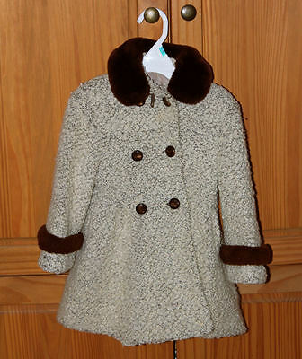 1940-50s Vintage CHILDs 3/4 or 5/6 Young Girls Winter Coat~Double Breasted~Wool?
