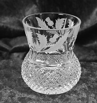 Edinburgh Crystal Cut Thistle Pattern Whisky Whiskey Tumblers 3 1/4 in. 6 ounce