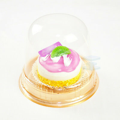 Cup a Cake Clear Pot with Dome Lid Muffin Container CupCake Plastic Carry Case