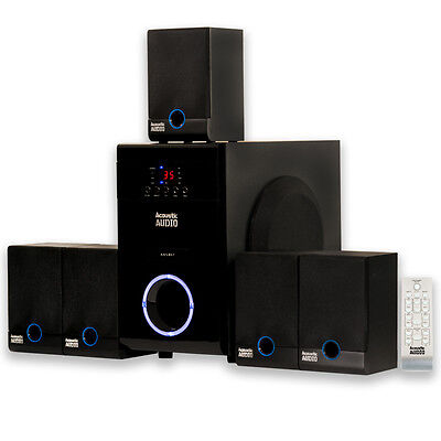 Acoustic Audio AA5817 Home Theater 5.1 Speaker System Surround Sound Multimedia
