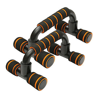 Pair Pushup Stands Body Building Sponge Hand Grip Bars Trainer Sport Gym