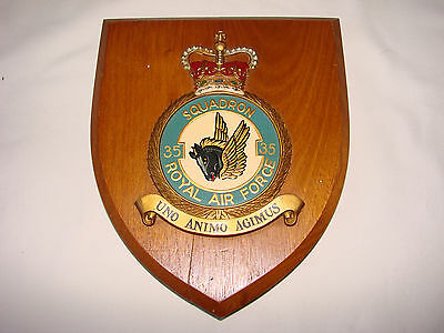 Royal Air Force 35 Squadron Wall Plaque Shield Crest