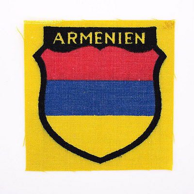 Authentic WWII German Army 'ARMENIAN' Volunteer Printed Shoulder Insignia Patch