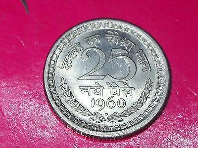 1960 25 PAISE INDIA WORLD Collectable COIN