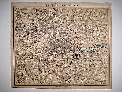 1832 SDUK: Map of the Environs of London