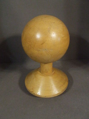 Large Vintage Ball Wood Post Finial