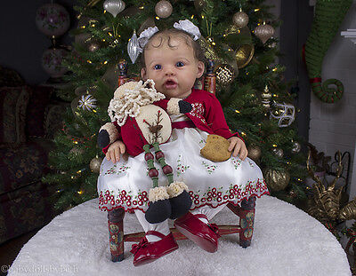 REBORN TODDLER GIRL ELORA BY JANNIE de LANGE REALISTIC CHRISTMAS BABY DOLL!