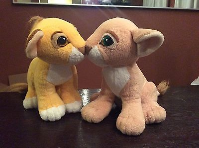 "9"" Simba And Nala Magnetic Plush From The Lion King"