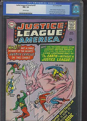 JUSTICE LEAGUE OF AMERICA #37 CGC NM- 9.2; OW; 1st Silver Age Mister Terrific!
