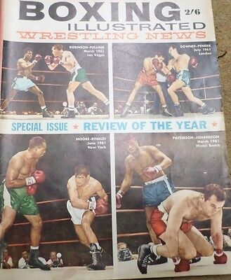 Boxing Illustrated, Wrestling News  Jan.1962 Review of the year 1961 Isue