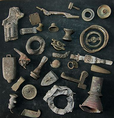 Mix Of Antique Artifacts Metal Detecting Find (DEC-A)