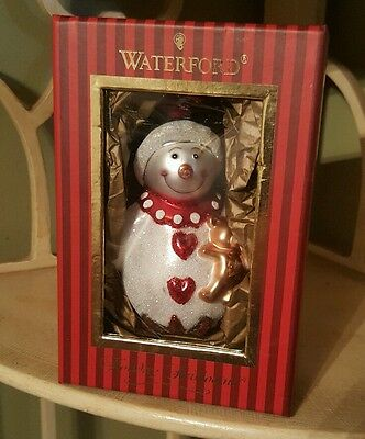 Waterford Holiday Heirlooms Goodnight Snowgirl Glass Christmas Ornament Snowman