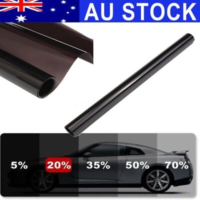 AU STOCK Black 20% Transparent Car Home Window Tint Film 90% Anti-UV 6M x 50CM