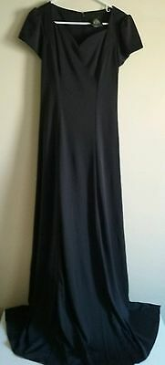 Stage Accents Women's Performance Apparel Long Black Stage Dress Gown Size 6
