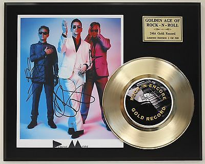 Depeche Mode Reproduction Signature Gold Record Limited Edition Display