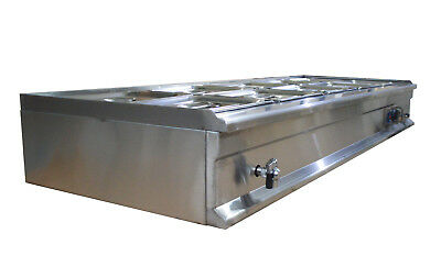 10-Pan Bain-Marie Buffet Food Warmer Steam Table 71×26×11inch 110V 1800W