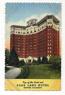 Park Lane Hotel Denver Colorado Vintage Postcard Aug16