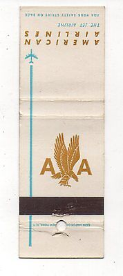 American Airlines The Jet Airline Vintage Matchbook Cover Aug16