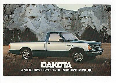 Mount Rushmore Dakota Midsize Pickup Truck Vintage 4x6 Postcard, Aug16