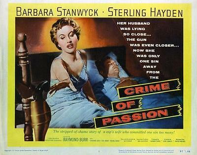Barbara Stanwyck Crime Of Passion Lobby Card   8X10 Photo