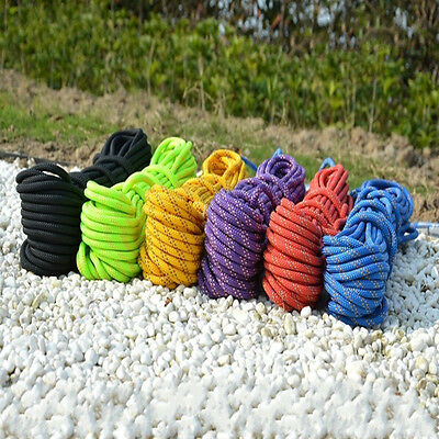 Colorful Multi-purpose 10M Outdoor Climbing Rope Climbing Safety Rescue Rope
