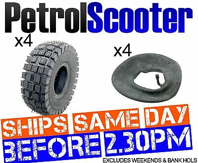 4 Chunky Tyres   4 Inner Tubes 3.00 - 4 Fits Mini Moto Quads Great Value