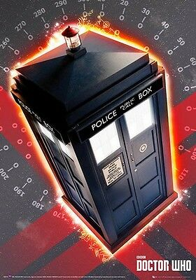 """Doctor who metallic card POSTER 'Tardis' telephone booth """"SIZE 47cm X 67cm"""""""