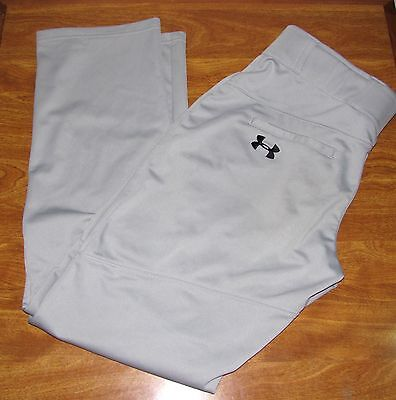 UNDER ARMOUR BASEBALL / SOFTBALL PANTS MEN'S Size LARGE Loose Gray