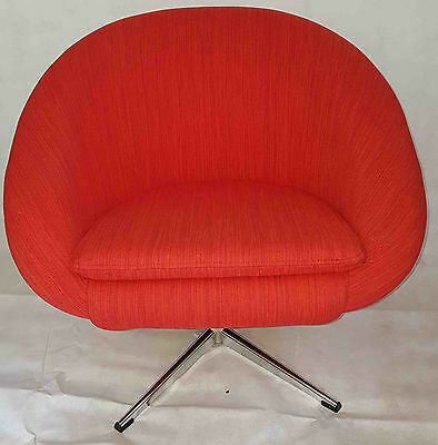 1960's original swivel chair newly upholstered
