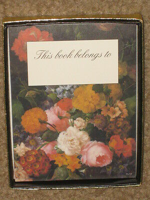 NEW 18 Floral Bookplates Self Adhesive