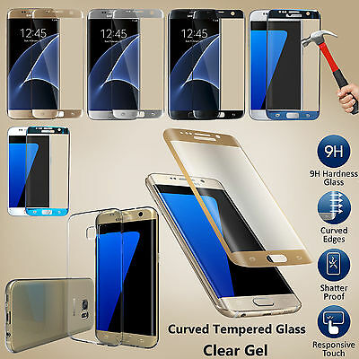 Samsung Galaxy S7 Edge Tempered Glass Screen Protector 3d +  TPU Case Cover