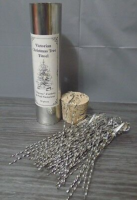Victorian Christmas Tree Tinsel 48 Count Tin Hooked Icicles Pietersma Tinworks