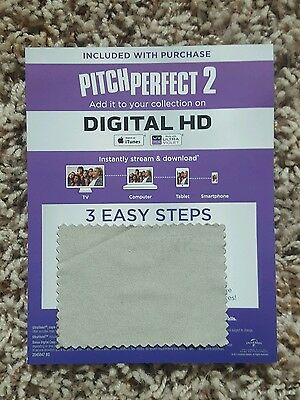 Pitch Perfect 2 Blu Ray Slip Cover and Digital HD Code Only