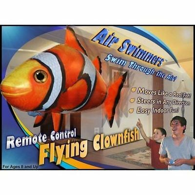 Air Swimmers Remote Control Flying Fly Inflated Clown Fish Float Helium Toy Kids