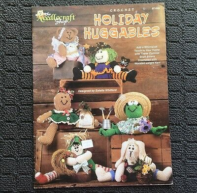 HOLIDAY HUGGABLES Crochet Designs Needlework Craft Book Booklet (1997)