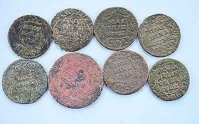 Mixed lot of Russian Imperial Copper coins Denga & Poluska 1731-1734