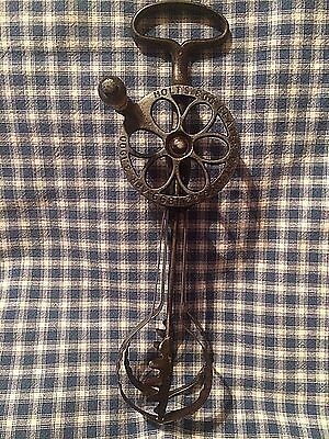 Antique Holt's Egg Beater Patent 1899  Cast Handle and Wheel -Unique Dashers