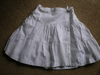 Girls 100% Cotton White Wrap Skirt Age 2 Years Ted Baker
