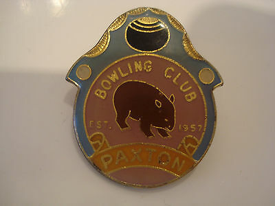 Paxton (NSW) Bowling Club Badge