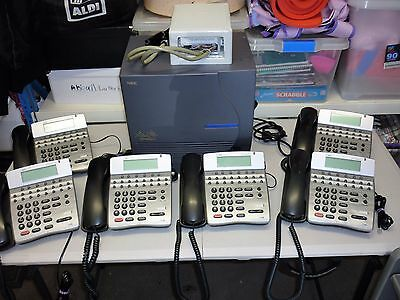 Nec Ipk Telephone System Complete With 16 Button Dtr Handsets