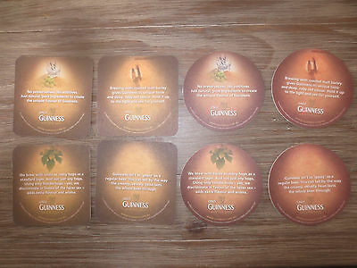 2 complete sets of 4  GUINNESS AUSTRALIAN Issue Beer collectable COASTERS,