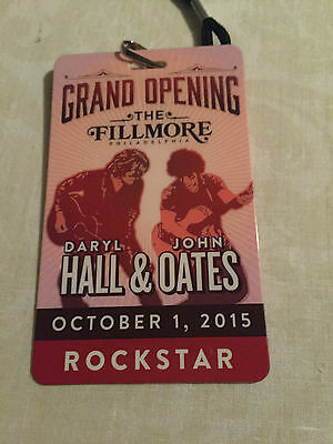 Hall & Oates Show Laminate 10/1/15 - First Show Ever At The Fillmore