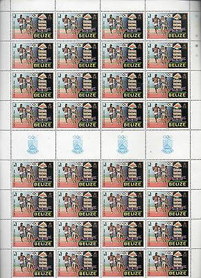 Belize Stamps 84 Los Angeles Summer Olympic Games Mnh Complete Sheet 32 X $1.0