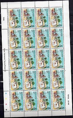BELIZE STAMPS 1985 350th ANNIVERSARY OF BRITISH POST OFFICE COMPLETE SHEETS MNH