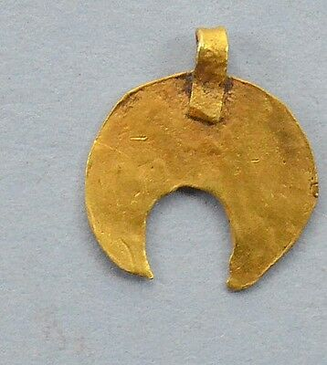 Medievil Viking Period Lunnar Moon-shaped Golden Pendant
