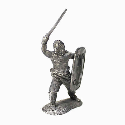"""Tin toy soldier """"Celtic warrior (Central Europe), 1-2 cent. AD""""  1/32 (54mm) #61"""