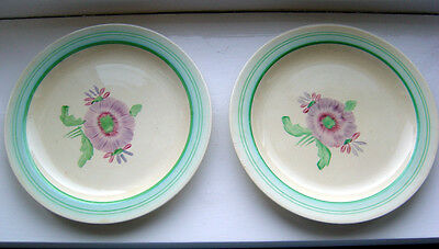 lot of 2 x CLARICE CLIFF plates