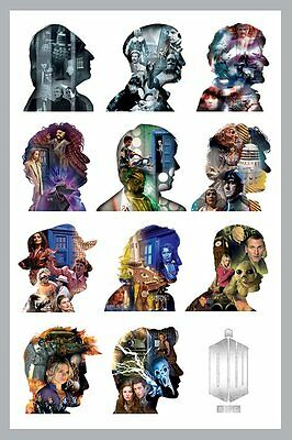 "Doctor Who Poster ""11 Doctors"" Licensed ""brand New"" Matt Smith, Tennant"