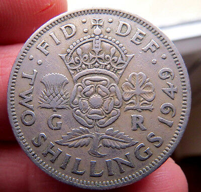1949 Two Shillings George Vi th